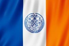 Bandiera di New York City, New York Stati Uniti illustrazione vettoriale