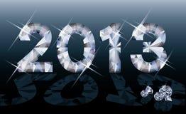 Bandiera di nuovo anno del diamante 2013 Fotografie Stock Libere da Diritti