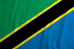 Bandiera di ondeggiamento della Tanzania immagine stock libera da diritti