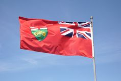 Bandiera di Ontario Fotografia Stock Libera da Diritti