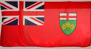 Bandiera di Ontario Fotografie Stock