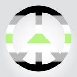 Bandiera di orgoglio di Agender sotto forma del simbolo di pace Fotografia Stock Libera da Diritti