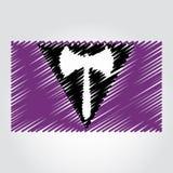 Bandiera di orgoglio di Labrys in uno stile dello scarabocchio Immagine Stock Libera da Diritti