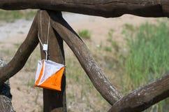 Bandiera di orienteering fotografia stock