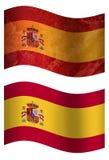 Bandiera di paese della Spagna 3D, stylesSwitzerlandSpain due illustrazione vettoriale