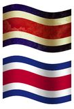 Bandiera di paese della Tailandia 3D, due stili illustrazione vettoriale