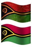 Bandiera di paese tridimensionale di flagvanuatu del paese dell'Uzbekistan 3D illustrazione vettoriale
