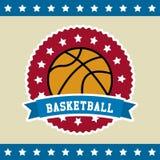 Bandiera di pallacanestro Fotografia Stock Libera da Diritti