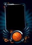 Bandiera di pallacanestro Fotografia Stock