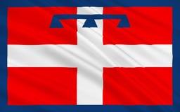 Bandiera di Piemonte, Italia immagine stock