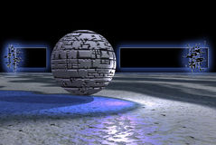 Bandiera di pietra della sfera Immagini Stock