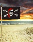 Bandiera di pirata Fotografia Stock Libera da Diritti
