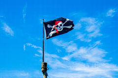 Bandiera di pirati Fotografia Stock