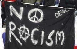 Bandiera di Racism* di *No fotografia stock libera da diritti