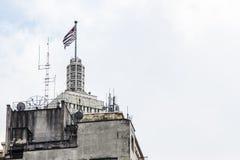 Bandiera di San Paolo State sopra una costruzione Fotografie Stock