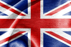 Bandiera di seta della Gran Bretagna Fotografia Stock