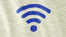 Bandiera di simbolo di Wi-Fi illustrazione vettoriale