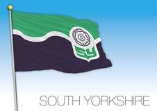 Bandiera di South Yorkshire, Regno Unito, contea del Regno Unito royalty illustrazione gratis