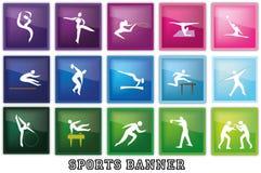 Bandiera di sport Fotografie Stock