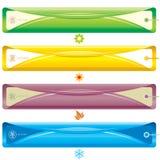 Bandiera di stagione Immagini Stock