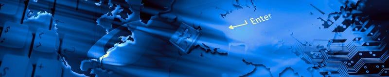 Bandiera di tecnologia. Fotografie Stock