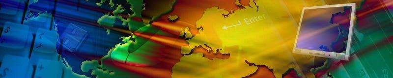 Bandiera di tecnologia. Immagini Stock
