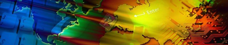 Bandiera di tecnologia. Fotografia Stock
