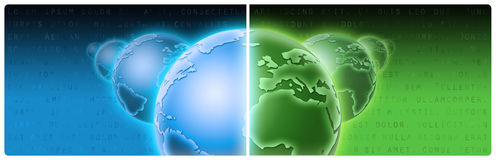 Bandiera di tecnologia e di affari, intestazione Fotografia Stock