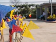 Bandiera di Triangel sul modo Fotografie Stock Libere da Diritti