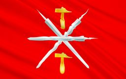 Bandiera di Tula Oblast, Federazione Russa Illustrazione di Stock