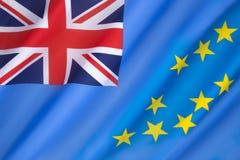 Bandiera di Tuvalu Fotografie Stock Libere da Diritti