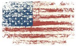 Bandiera di U Bandiera americana dell'annata Vettore illustrazione di stock