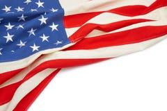Bandiera di U.S.A. con il posto per il vostro testo - colpo alto vicino dello studio Immagini Stock