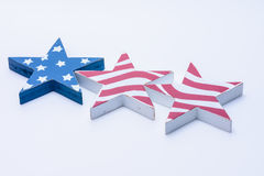 Bandiera di U.S.A. creata con le stelle di legno Fotografia Stock Libera da Diritti