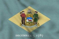 Bandiera di U.S.A. del Delaware che ondeggia delicatamente royalty illustrazione gratis