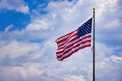Bandiera di U.S.A. dell'americano Immagini Stock