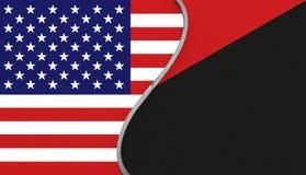 Bandiera di U.S.A. e una bandiera di Antifa Fotografie Stock