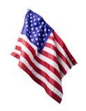 Bandiera di U.S.A. isolata su fondo bianco Immagine Stock Libera da Diritti