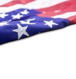 Bandiera di U.S.A. isolata su fondo bianco con lo spazio della copia Immagine Stock Libera da Diritti