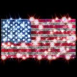 Bandiera di U.S.A. in rhinestones Fotografia Stock