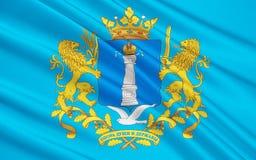 Bandiera di Ul'janovsk Oblast, Federazione Russa illustrazione vettoriale