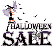 Bandiera di vendita di Halloween Immagine Stock Libera da Diritti