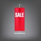 Bandiera di vendita Supporto rosso di pubblicità Fotografie Stock Libere da Diritti