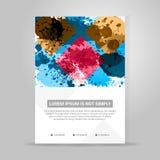 Bandiera di vettore Colori la progettazione geometrica di concetto Fotografia Stock