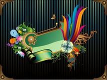 Bandiera di vettore del fiore royalty illustrazione gratis