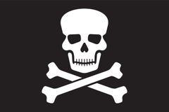 Bandiera di vettore del pirata illustrazione di stock