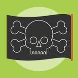 Bandiera di vettore del pirata Roger allegro illustrazione vettoriale