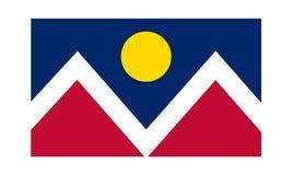 Bandiera di vettore dell'illustrazione piana semplice di progettazione di Denver isolata su fondo bianco illustrazione vettoriale