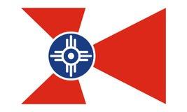 Bandiera di vettore dell'illustrazione piana semplice di progettazione di Wichita isolata su fondo bianco illustrazione di stock
