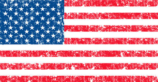 Bandiera di vettore di U.S.A. nel colore ufficiale Fotografie Stock